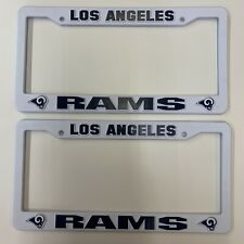 Los Angeles Rams White Plastic License Plate Frame 6x12 Inches