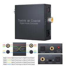 Digital Bi-Directional  Coaxial to Optical Toslink SPDIF Audio Converter Swtich