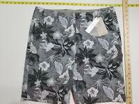 Tommy Bahama IslandZone Stretch Shorts- 35 - Gray Shades - Floral Pattern - NWT