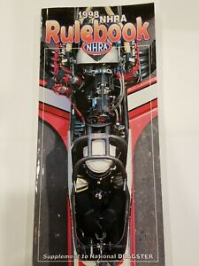 1998 NHRA RULE BOOK Drag Rules NATIONAL HOT ROD ASSOCIATION Dragsters