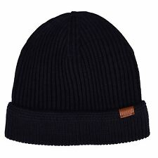 Kangol Mens Beanie Ribbed Knitted DARK BLUE  Winter Warm Accessories