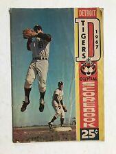 1967 Detroit Tigers Official Scorebook 25c Kansas City Athletics Vs Detroit