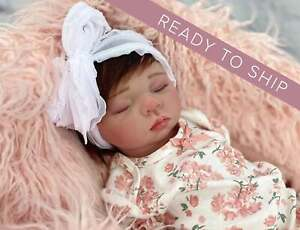 Baby Doll Silicone Full Body Life like Newborn Baby Girl Natural Rooted Mohair