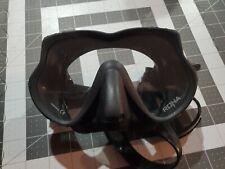 Sherwood Rona Scuba Dive Snorkel Mask - Black Silicone *Torn Head Strap