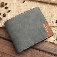 Retro Wallet Card Holder Coin Pocket Purse Daily Business Mens Bag PU Bag Wallet
