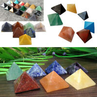 Crystal Agate Pyramid Polished Stone Healing Gem Home Decor Supply Crafts