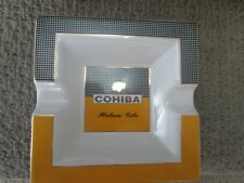 "AUTHENTIC COHIBA CERAMIC 2 SLOT CIGAR ASHTRAY 7.5"" SQ."
