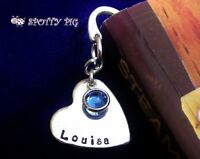 Personalised Heart Bookmark & Name, Any Crystal Colour gift Mum Mother Mum
