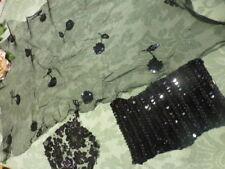 lot noires  dentelles anciennes et paillettes