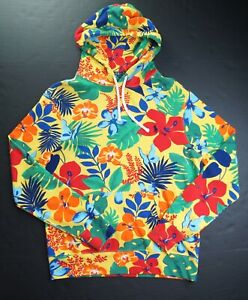 POLO RALPH LAUREN Men's Multicolor Floral Ultrasoft Spa Terry Hoodie NEW NWT