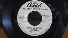 RARE DEAN MARTIN WLP PROMO PROMISE HER ANYTHING 45 THE TRICHE TRACHE ON CAPITOL