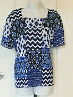 Alfred Dunner Top - Blue - Polyester/Spandex - Size XL