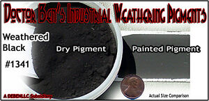Weathered Black Weathering Pigment Doctor Ben's Wood Plastic Metal Resin obb1422