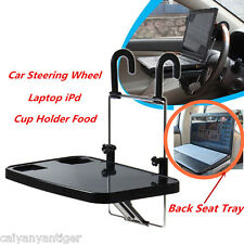 Car Auto Laptop Tablet PC iPad Mount Stand Holder Desk Drink Food Cup Tray Black