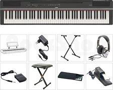 Yamaha P 125 B Digital E-Piano Klavier SET mit X-Stativ + Staub Schutz Hülle