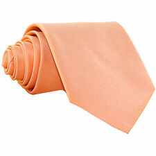 New Polyester Men's Neck Tie only solid formal wedding prom party work peach