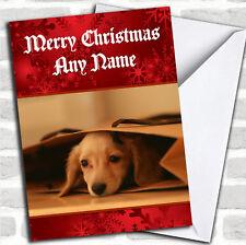Dachshund Puppy Christmas Customised Card