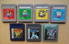 Nintendo GameBoy 7 Pokemon set Green Red Yellow Blue Silver Gold Crystal GB GBC