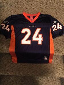 Champ Bailey #24, Denver Broncos, Reebok Jersey NFL -YOUTH- Jersey, X Large