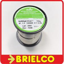 ESTAÑO HILO 1MM CARRETE ROLLO 100GR 99%SN 0.3%AG 0.7%CU LIBRE DE PLOMO BD5958