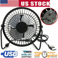 Desk Table Fan Personal USB Small Air Circulator Quiet Mini Portable Retro 4''