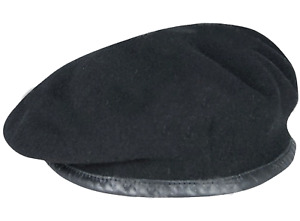 Firmin Army Small Crown Officers & OR's Wool Beret Silk Lined - Black