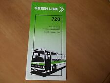 Green Line 720 bus timetable leaflet