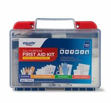Equate All Purpose First Aid Kit 140 Pieces Items Medical Emergency Travel Case