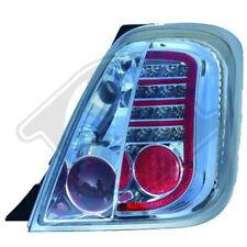 Für Fiat 500 LED Rückleuchten /Heckleuchten Chrom-klar ab Bj.2007-2016 Europaw.z