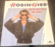 ROBIN GIBB boys do fall in love*diamonds 1984 SPAIN POLYDOR TEXTURED PS 45