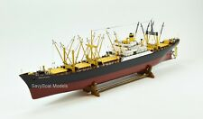 "American Scout C-2 Cargo Ship Wooden Ship Model 50"" RC Convertible with lights"