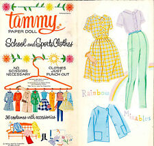 VINTGE 1964 TAMMY PAPER DOLLS ~PRETTY LASER REPRODUCTION~ORG SIZE UNCUT