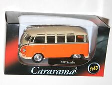 Cararama - VW Volkswagen SAMBA Bus (Orange) Model Scale 1:43