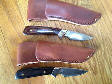 2 SCHRADE USA OLD TIMER LI'L LITTLE FINGER WALNUT/BLACK HANDLE 156OT  KNIFE NEW