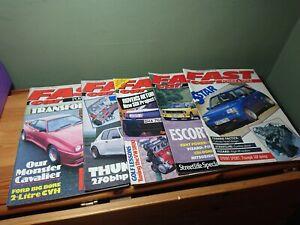 Bundle Lot Fast Car Magazines 1989 Renault 5 GT Turbo Escort SD1