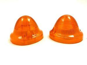 Citroen 2CV 3CV Front Turn Signal Lens Set Left and Right Amber NEW #136 - Set