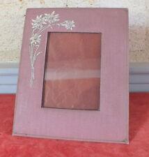 cadre porte photo tissu gaufré peint sous verre frame