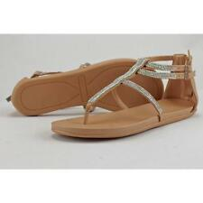 Sandalias y chanclas de mujer planos sintético, talla 40.5