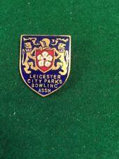 Enamel Badge Lawn Bowls Leicester City Parks Bowling Assn.