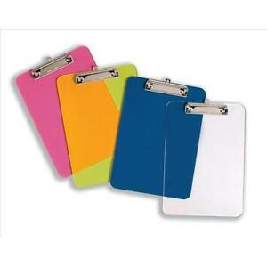 A4 SOLID STRONG PLASTIC CLIPBOARD WITH HANGING HOOK ( Quantity & Colour Choice)