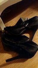 high stilleto heel open toe black buckle shoes