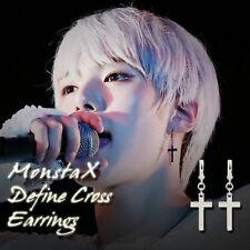 MONSTA X Define Cross Earrings KPOP Style Hot Item Made In Korea 1Pair