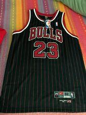 Michael Jordan - Chicago Bulls - Black Striped Jersey - New with Tags - 2XL