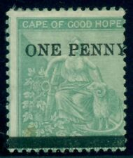 Cape Of Good Hope #22 1p on 1sh, surcharged, og, hinged, Scott $120.00