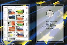 Nederland Speciaal mapje 2260-2269 Uitbreiding EU  met speciale 5 euro munt