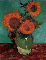 Oil painting Vincent Van Gogh - The Sunflowers nice still life flowers canvas