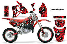 Graphics Kit MX Decal Wrap + # Plates For Honda CR80 CR 80 1996-2002 NSTAR W R