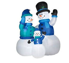 CHRISTMAS HUGE SNOWMAN FAMILY SET OF 3  AIRBLOWN INFLATABLE 12FT TALL, 9 FT LONG