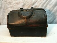Vintage cowhide leather Doctor bag carry luggage 16in Emdee By Schell