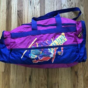 Men's Vintage 90's Nike Challenge Court Agassi Tennis Pink Purple Duffle Gym Bag
